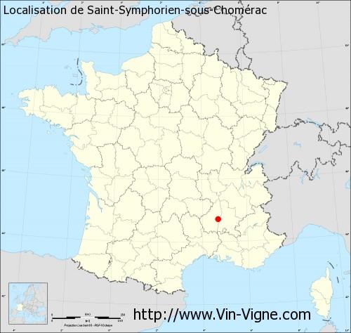 Carte de Saint-Symphorien-sous-Chomérac