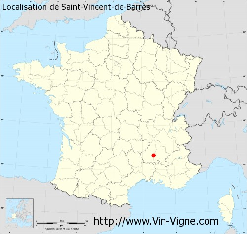 Carte de Saint-Vincent-de-Barrès