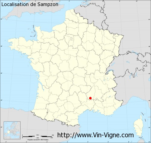 Carte  de Sampzon