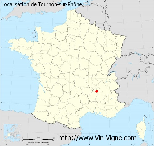 Carte de Tournon-sur-Rhône