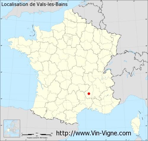 Carte de Vals-les-Bains