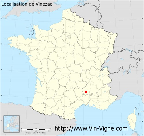 Carte de Vinezac