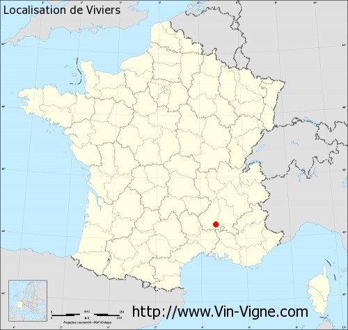 Carte de Viviers