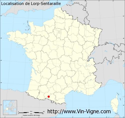 Carte de Lorp-Sentaraille