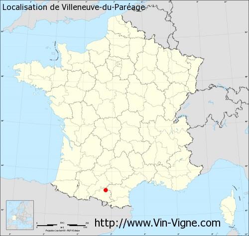 Carte de Villeneuve-du-Paréage