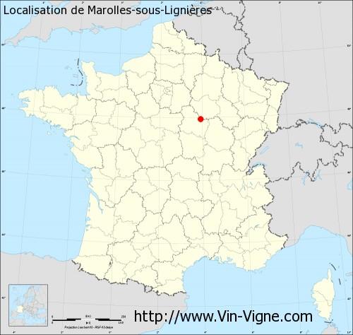 Carte de Marolles-sous-Lignières