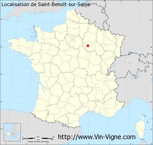 Carte de Saint-Benoît-sur-Seine