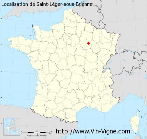 Carte de Saint-Léger-sous-Brienne
