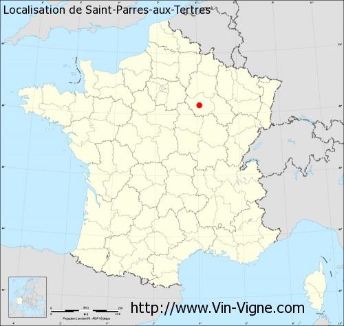 Carte de Saint-Parres-aux-Tertres