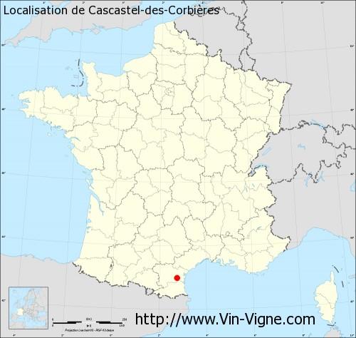 Carte de Cascastel-des-Corbières