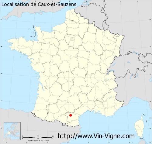 Carte de Caux-et-Sauzens