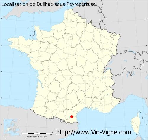 Carte de Duilhac-sous-Peyrepertuse