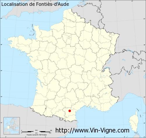 Carte de Fontiès-d'Aude