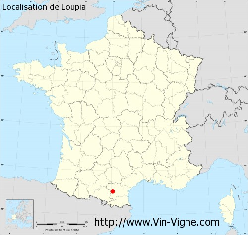 Carte de Loupia