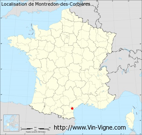 Carte de Montredon-des-Corbières