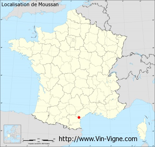 Carte  de Moussan