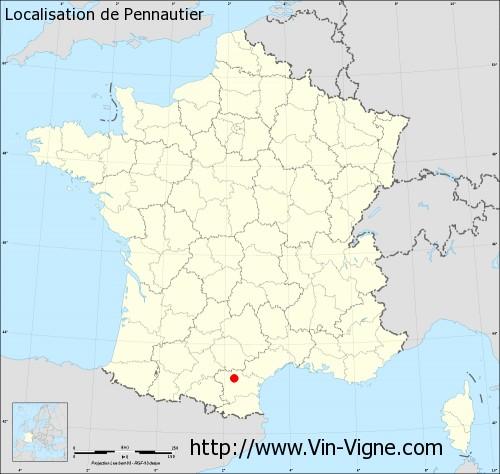Carte de Pennautier