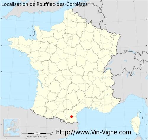Carte de Rouffiac-des-Corbières
