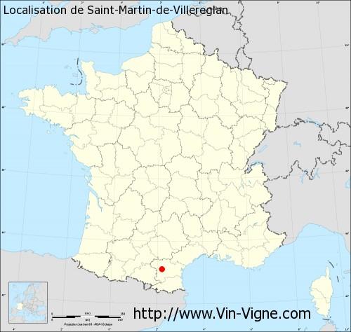 Carte de Saint-Martin-de-Villereglan
