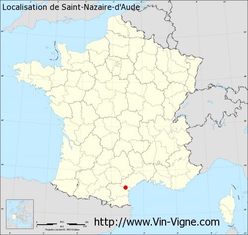 Carte de Saint-Nazaire-d'Aude