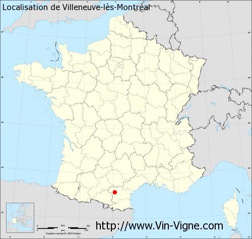 Carte de Villeneuve-lès-Montréal