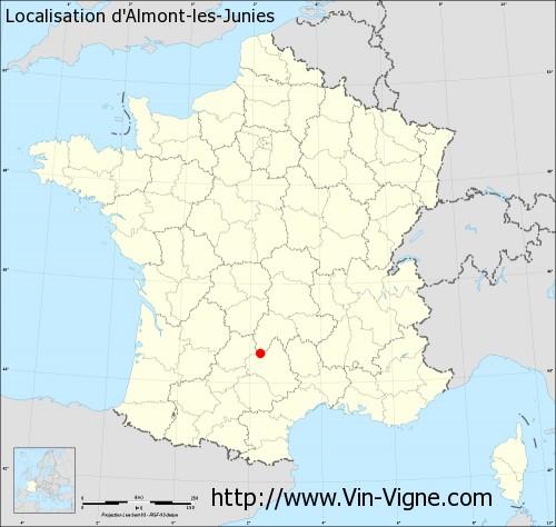 Carte d'Almont-les-Junies