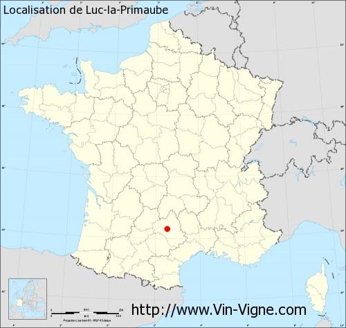 Carte de Luc-la-Primaube
