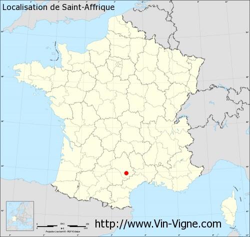 Carte de Saint-Affrique