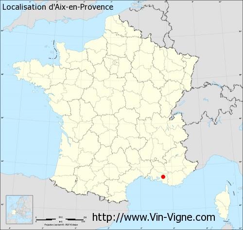 Carte d'Aix-en-Provence