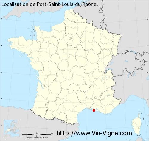 Carte de Port-Saint-Louis-du-Rhône