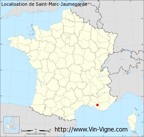 Carte de Saint-Marc-Jaumegarde