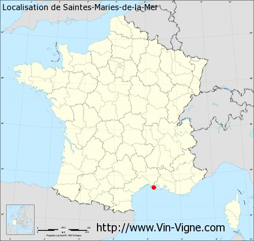 Carte de Saintes-Maries-de-la-Mer