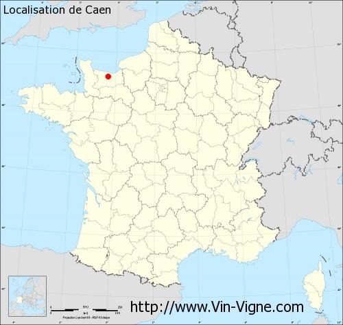 Carte  de Caen