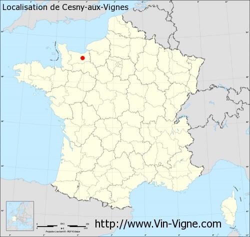 Carte de Cesny-aux-Vignes