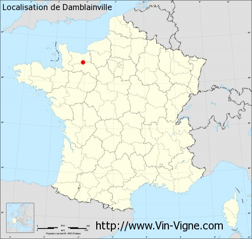 Carte de Damblainville