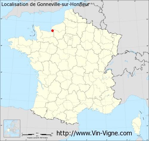 Carte de Gonneville-sur-Honfleur