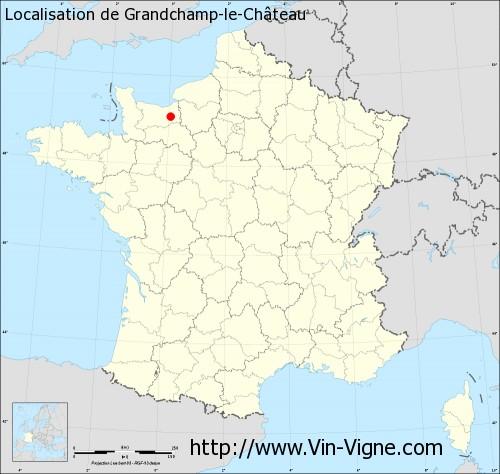 Carte de Grandchamp-le-Château
