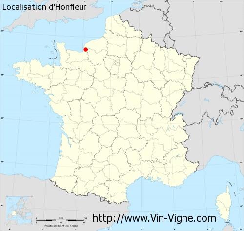 Carte d'Honfleur