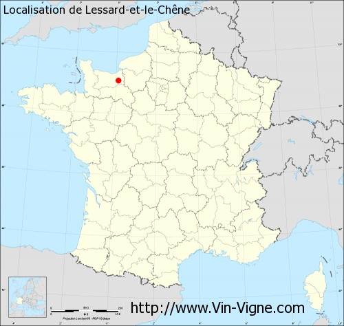 Carte de Lessard-et-le-Chêne
