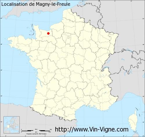 Carte de Magny-le-Freule