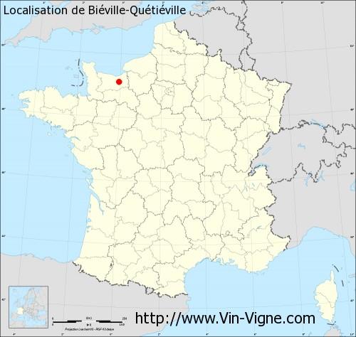 Carte  de Biéville-Quétiéville