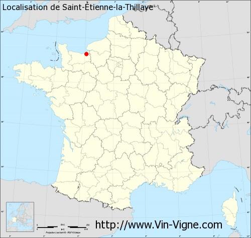 Carte de Saint-Étienne-la-Thillaye