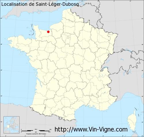 Carte de Saint-Léger-Dubosq