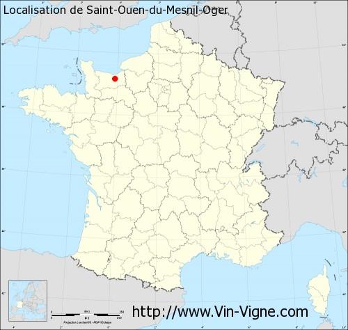 Carte de Saint-Ouen-du-Mesnil-Oger