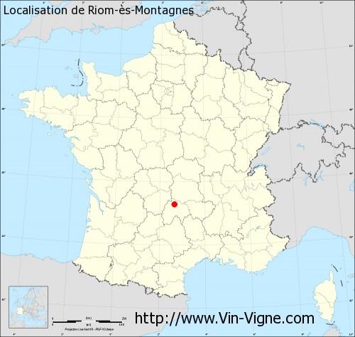 Carte de Riom-ès-Montagnes