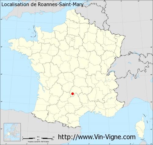 Carte de Roannes-Saint-Mary
