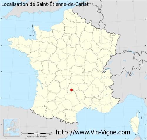 Carte de Saint-Étienne-de-Carlat