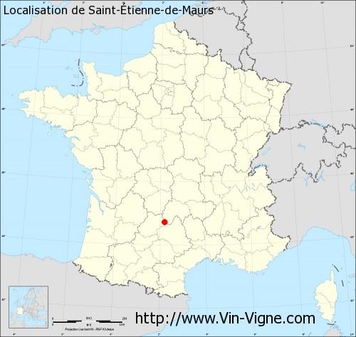 Carte de Saint-Étienne-de-Maurs