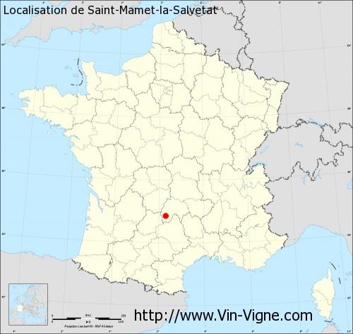 Carte de Saint-Mamet-la-Salvetat