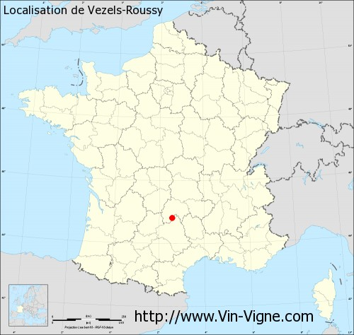 Carte de Vezels-Roussy